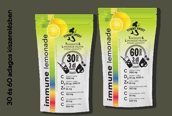 immune lemonade - 30 es 60 adagos kiszerelésben, c vitaminnal, d citaminnal, cinkkel, citrus bioflavonoidokkal - immunerősítő
