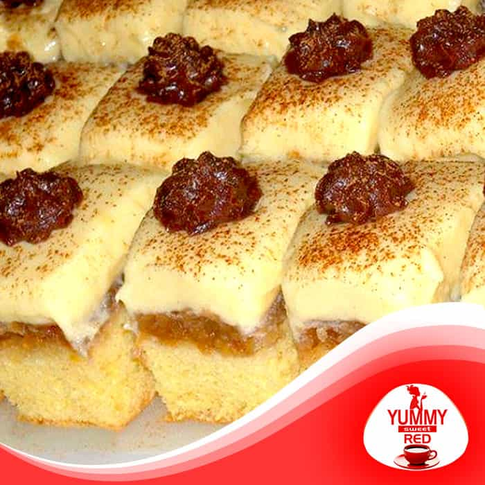 Cukormentes sütemény recept - Fordított almás piskóta