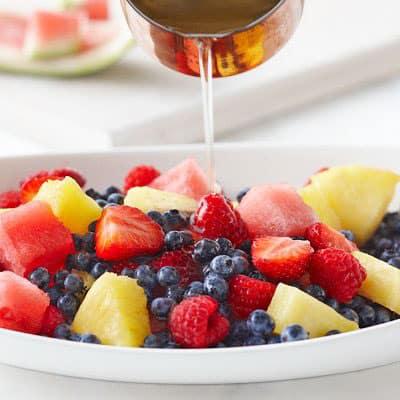 Édesítőszerek használata - cukormentes gyümölcs saláta édesítés