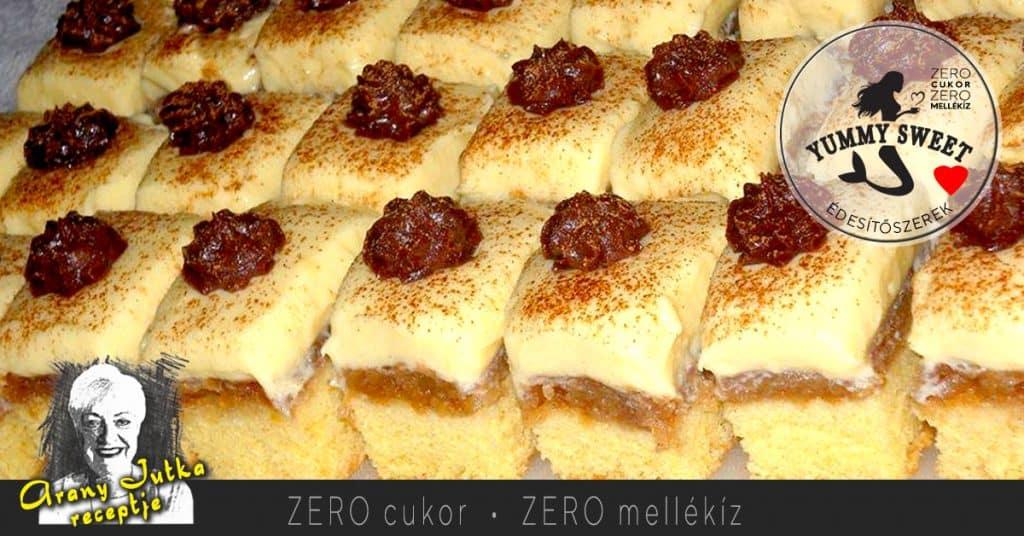 fordított almás piskóta – édesítőszeres, diétás, cukormentes sütemények, diétázóknak, fogyókrázóknak, cukorbetegeknek