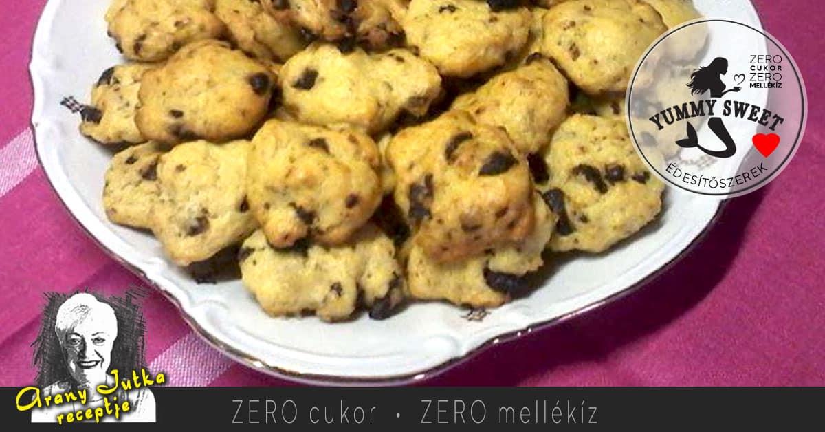 omlós-csokis-keksz– édesítőszeres, diétás, cukormentes sütemények, diétázóknak, fogyókrázóknak, cukorbetegeknek