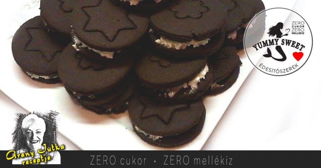 Oreo keksz - édesítőszeres, diétás, cukormentes sütemények, diétázóknak, fogyókrázóknak, cukorbetegeknek