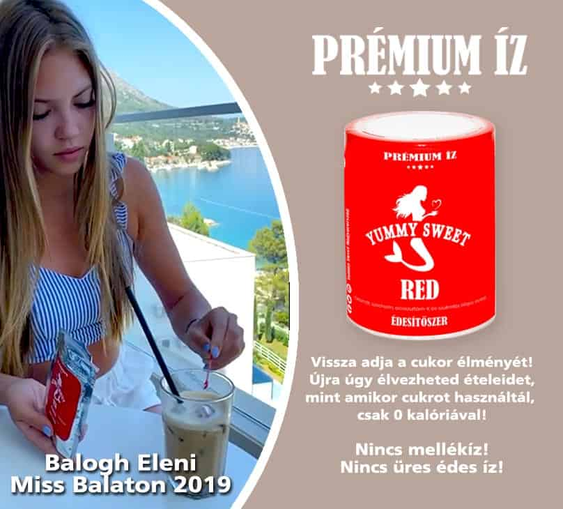 Yummy Sweet édesitőszerek diétás cukormetes ételekhez Miss Balaton 2019 Balogh Eleni kóstol